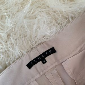 Theory Cotton Blend Tan Pants Women's Size 6